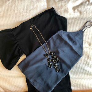 NWT Aritzia Boscono Silk Camisole in Charcoal